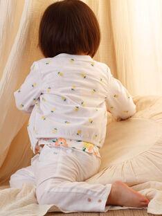 Cardigan blanc broderies citrons bébé fille ZANINON / 21E1BFO1CAR000