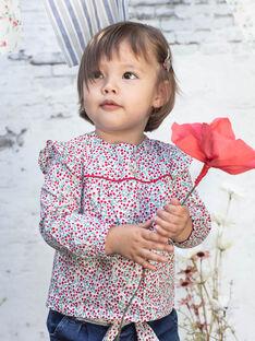 Chemisier manches longues imprimé fleuri bébé fille BAADELINE / 21H1BF11CHE001