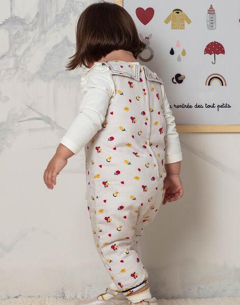 Combinaison sans manches beige imprimé fleuri bébé fille BAEMMA / 21H1BF51SALA011