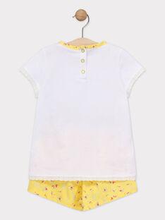 Pyjama short petite fille  TEJAPETTE / 20E5PFE3PYJ001