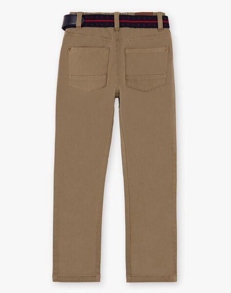 Pantalon droit vert kaki et ceinture enfant garçon  BUXIGAGE3 / 21H3PGB7PAN604