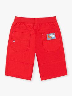 Bermuda rouge taille élastiquée ZAFLAGE / 21E3PGI1BER502