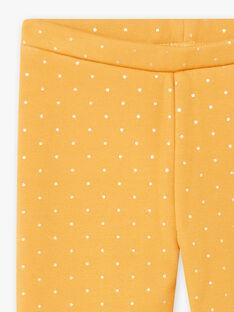 Legging jaune moutarde fourré détail nœud enfant fille BROLIETTE 1 / 21H4PFF1CTTB106