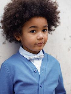 Gilet bleu col V enfant garçon TIAPAGE / 20E3PGJ1GIL720