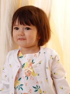 Cardigan blanc broderies citrons bébé fille ZANINON