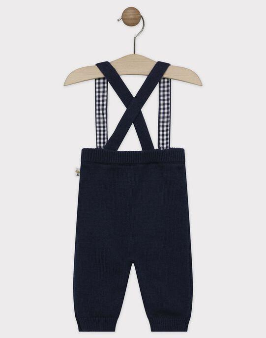 Pantalon à bretelles bébé garçon bleu marine  SAMAJOR / 19H1BGC1PAN705