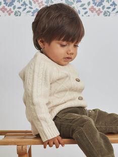 Gilet beige maille fantaisie bébé garçon BASWAN / 21H1BGO1GILA011