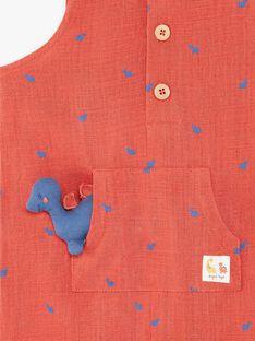 Combinaison imprimée rouge brique ZAELLIEE / 21E1BGB1CBL506