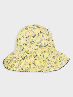 Chapeau imprimé fleuri petite fille  TOIFUETTE / 20E4PFO1CHA000