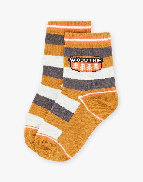 Chaussettes rayées à motif forêt enfant garçon BIVERAGE / 21H4PGJ1SOQ804