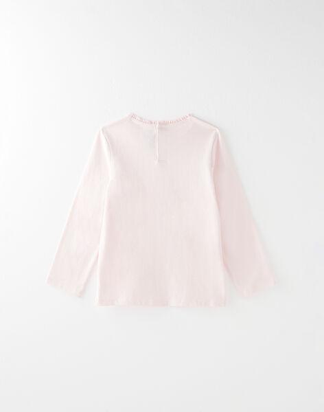 Tee-shirt manches longues uni rose pâle VETISHETTE 2 / 20H2PFC8TMLD326