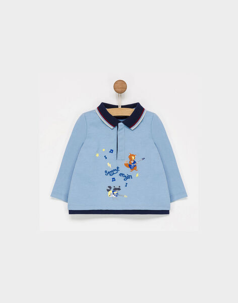 Polo bleu PAFLORIAN / 18H1BGD1POL205