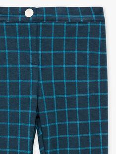Pantalon gris à carreaux enfant fille BROMILETTE1 / 21H2PFB4PANJ908