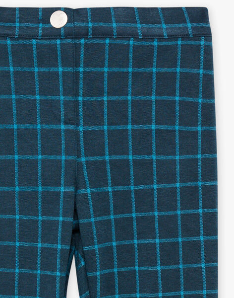 Pantalon vert sapin à carreaux enfant fille BROMILETTE1 / 21H2PFB4PANJ908