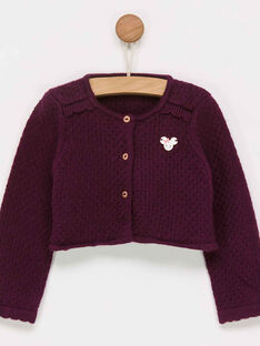 Cardigan bordeaux PALILY / 18H1BFH1CAR511