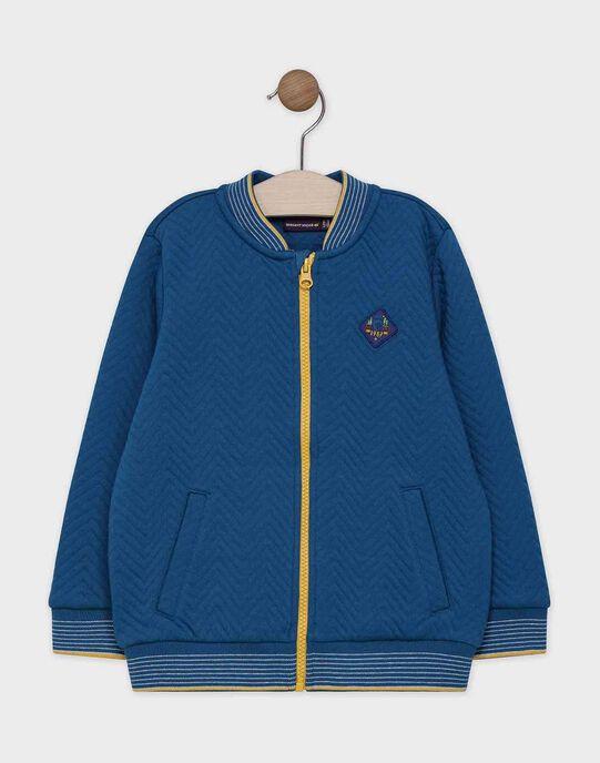 GILET fancy tubic coloris bleu canard. SACARDAGE / 19H3PG21GIL714