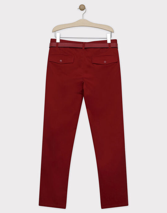 Pantalon rouge avec ceinture homme SIREGULAGEM / 19H3GHU1PAN719
