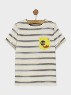Tee shirt manches courtes écru ROTROAGE / 19E3PGM2TMC632