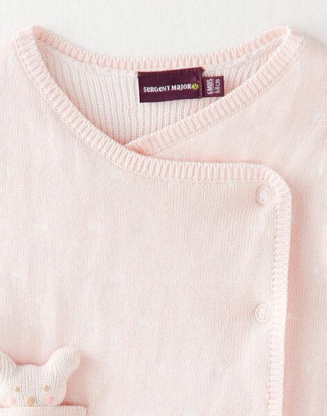 Ensemble rose imprimé pois en tricot  VIDINA / 20H1BFD2ENS301