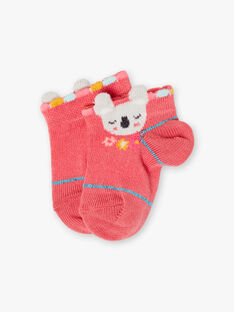 Chaussettes roses motif koala bébé fille TAVITA / 20E4BFX1SOBF507