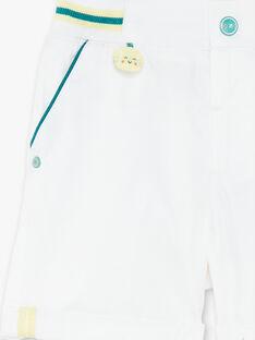 Bermuda blanc détails contrastés bébé garçon ZAMARLON / 21E1BGO1BER001