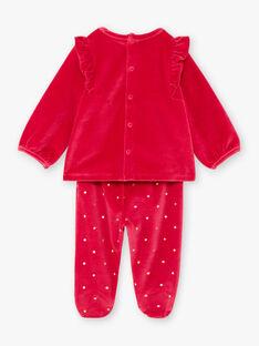 Ensemble pyjama manches longues rose framboise à motifs animaux bébé fille BEBAMBI / 21H5BF61PYJ308