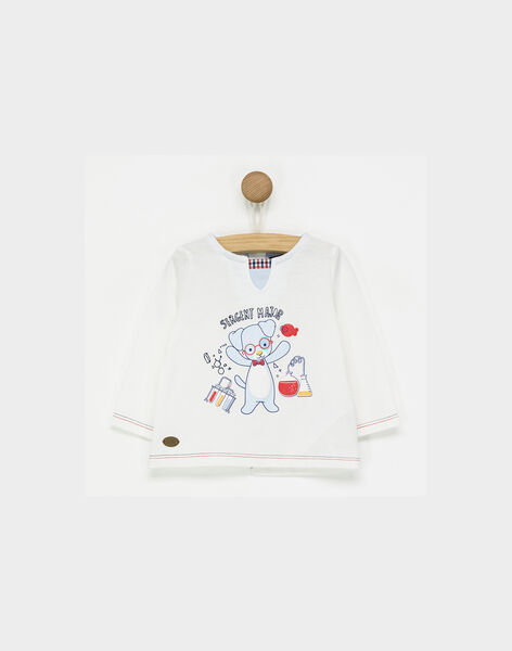 Tee shirt manches longues blanc PABILLY / 18H1BG21TML001