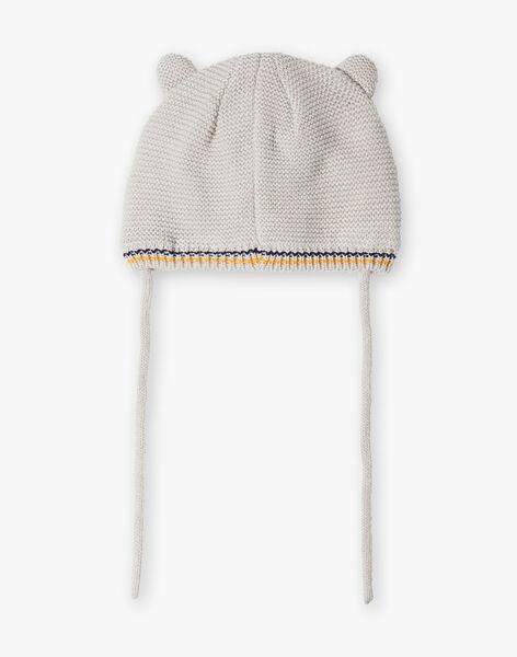 Bonnet gris bébé garçon  VAFALLOU / 20H4BG83BONJ920