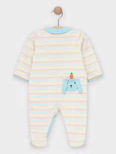 Grenouillère à rayures colorées bébé garçon TEVITO / 20E5BGE4GRE001