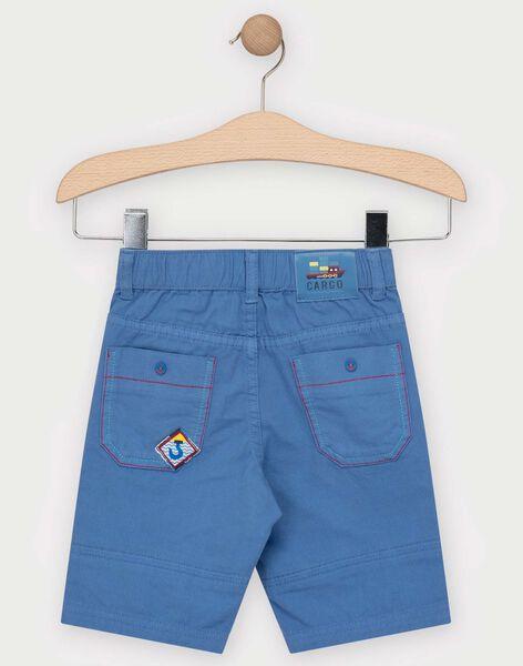 Bermuda bleu marine avec porte clé boussole garçon  TUELAGE / 20E3PGW3BERC244