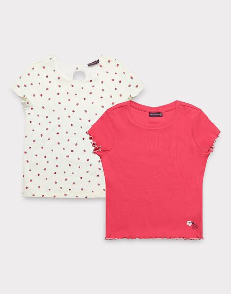 Lot de deux t-shirt manches courtes fille  TOULAETTE 2 / 20E2PF91LDT404