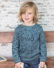 Sweatshirt vert d'eau motif dinosaures enfant garçon BUWAGE2 / 21H3PGB1SWE614