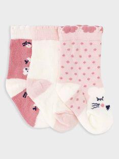 Lot de 3 paires de chaussettes bébé fille  TIREBECCA / 20E4BF91LCH301