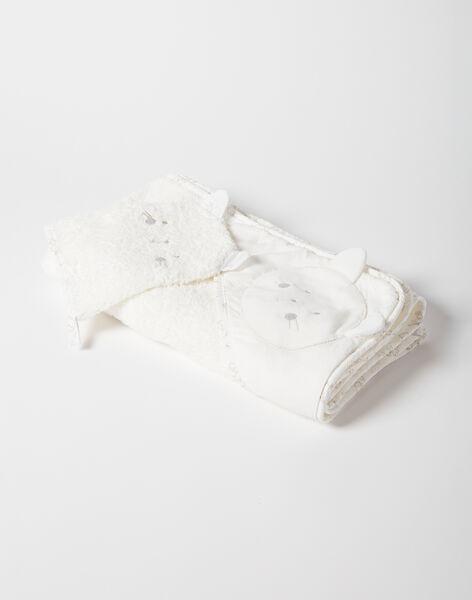Pointe éponge écrue et son gant bébé mixte  VIOLET / 20H0AM11POI001