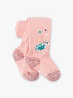 Collant rose bébé fille  VAGARANCE / 20H4BFL1COLD329