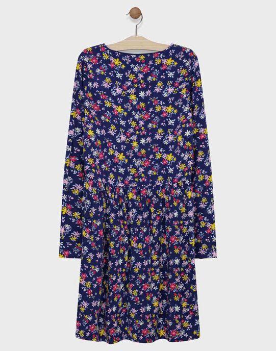 Robe manche longue AOP fleuri.  SIBANEF / 19H2FF41ROB070