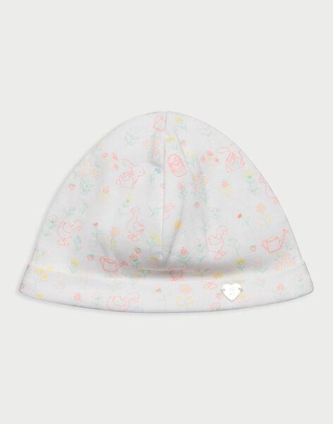 Bonnet de naissance blanc RYALICIA / 19E0AF11BNA001