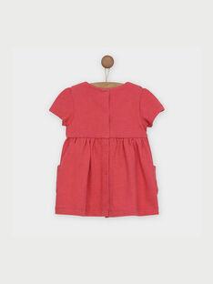 Robe rose à manches courtes RABETTY / 19E1BF21ROB303