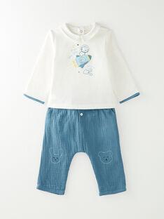 Ensemble body, pantalon et chaussettes bébé garçon  VICENCIO / 20H0CG12ENS714