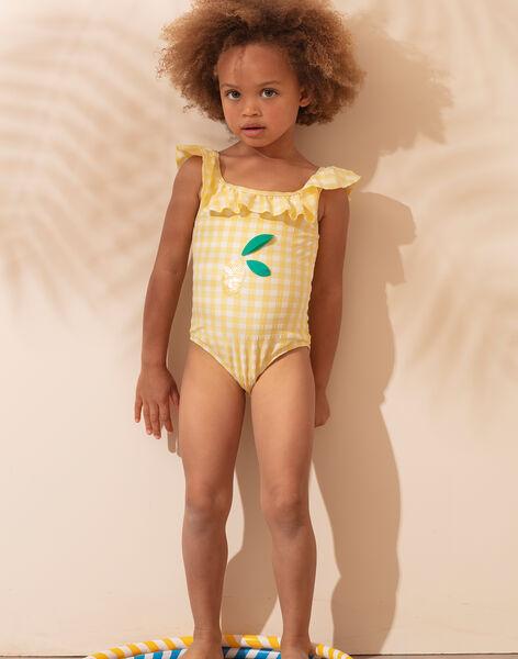 Maillot de bain vichy petite fille  TIDUETTE / 20E4PFI1D4K010