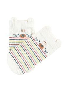 Chaussettes bouclettes écru bébé garçon TAADAM / 20E4BGB2SOQ001