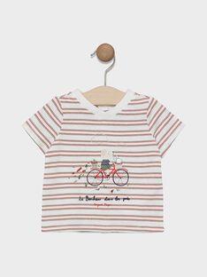 T-shirt manches courtes à rayures   SADENVER / 19H1BG31TMC000
