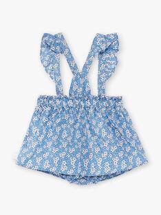 Jupe à bretelles à imprimé fleuri bébé fille ZAPHILOE / 21E1BFT1JUPC208