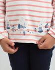 Tee Shirt Manches Longues Ecru BYMARETTE / 21H2PFL2TML001