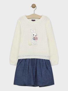 Robe tricot et denim fille SUITOLETTE / 19H2PFN3ROB001