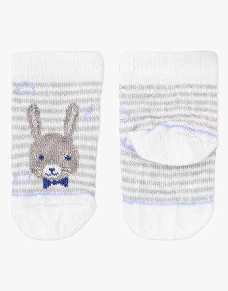 Chaussettes rayées motif lapin bébé garçon TAJESSE / 20E4BGJ1SOQ001