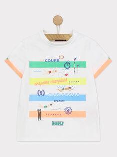 Tee shirt manches courtes blanc RUACIAGE / 19E3PGP1TMC000