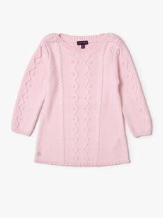 Robe rose en tricot VAOLIA / 20H1BFW3ROB301