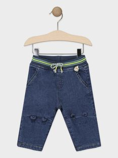 Jean bleu moyen bébé garçon  TAANDREW / 20E1BGB1JEAP269
