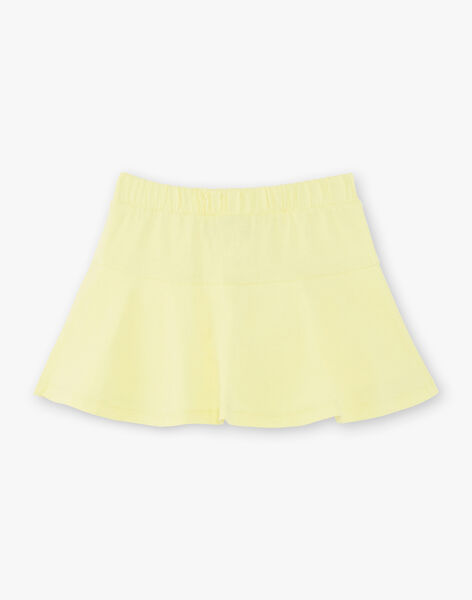 Jupe-short patineuse jaune enfant fille ZLUCETTE3 / 21E2PFL3JUPB104